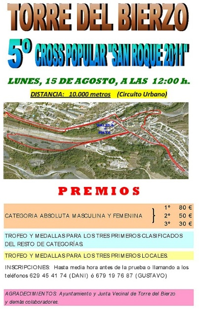 "5º Cross Popular ""San  Roque 2011"" (10 Km) Torre"