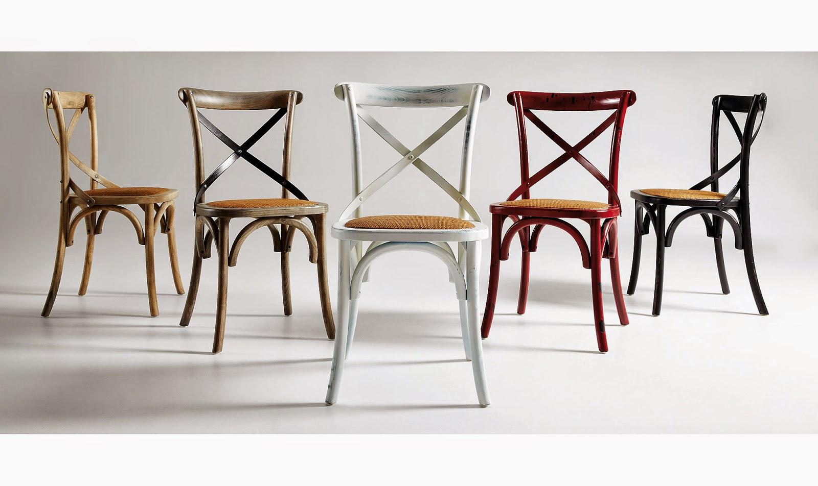Muebles de comedor por la decoradora experta for Sillas blancas vintage