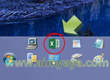 Gambar: Tombol Microsoft Excel pada Taskbar Windows