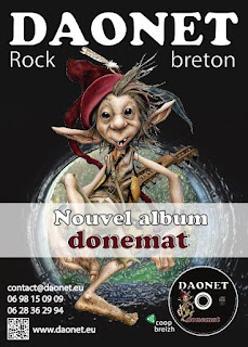 Flyer d'annonce du nouvel album de Daonet - Donemat - lutin musicien Brucéro