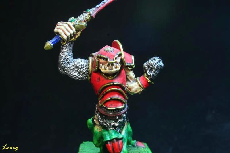 Vista frontal del Campeón ogro Dragón
