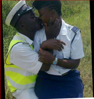 African Sex Pictures: Police Officers Caught In Public