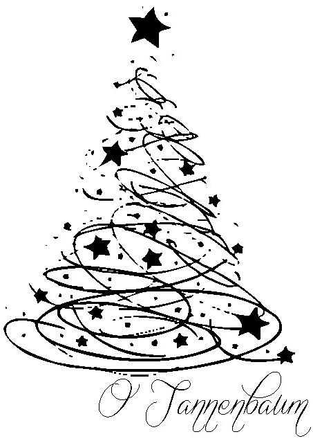 Wohnlust o tannenbaum o tannenbaum - Weihnachtsbaum schablone ...