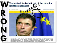 photo of article corrected by EU politicians with Wrong written down the side of the article and the comments circled and Correction written in script in large letters next to the Comments. Article was published bv Euractiv and was corrected due to the comments  by the editor who happened to also be the author of the article