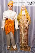 Baju Pengantin Krim Oren