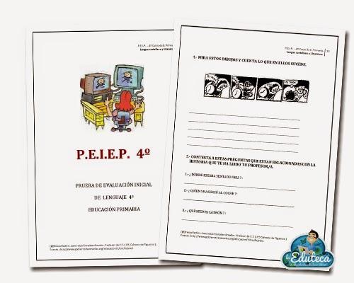 RECURSOS PRIMARIA | Evaluación Inicial de Lengua para 4º de Primaria ...