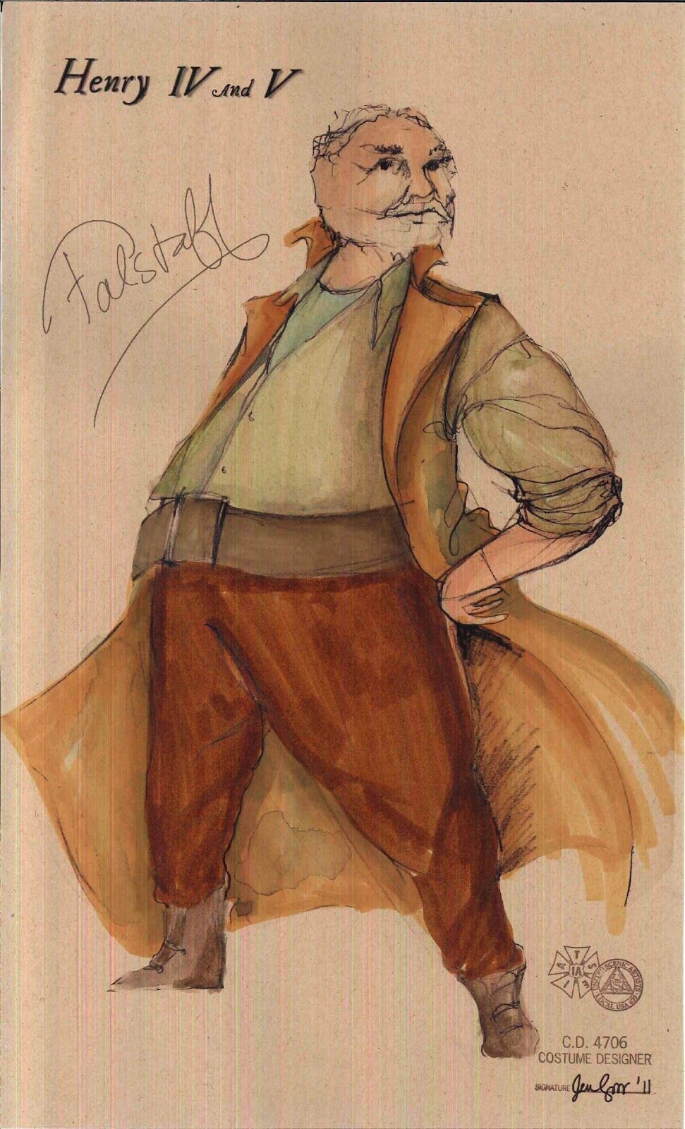 character sketch of falstaff