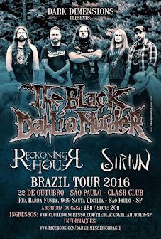 Black Dahlia Murder Brazil tour 2016