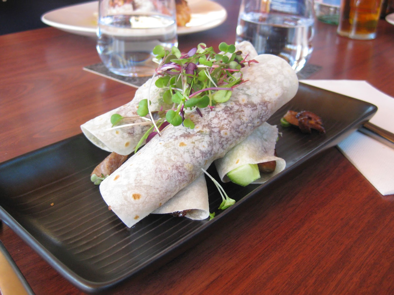 Cassie Cakes Cove Bar & Dining Review - Peking Duck Wraps