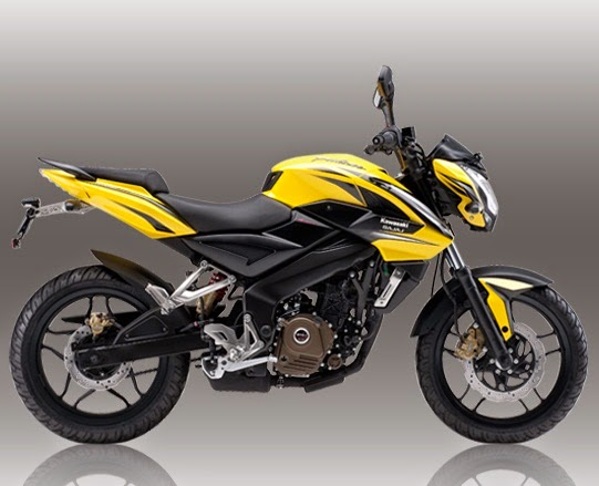 Harga Spesifikasi Kawasaki Bajaj Pulsar 200NS kuning
