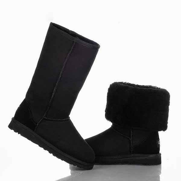 botas negras tipo ugg
