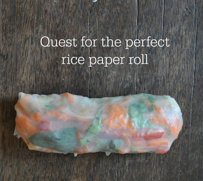 Meatless Monday, vegetarian, rice paper roll