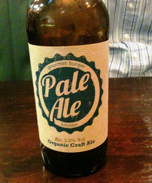 A photo of a bottle of Pale Ale at the Gourmet Burger Kitchen