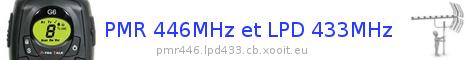 PMR 446 Mhz et DPMR 446 Mhz