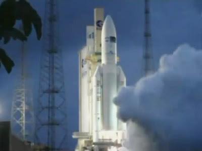 ESA launches Ariane 5 on 16 Feb. 2011. NASA, 2011.