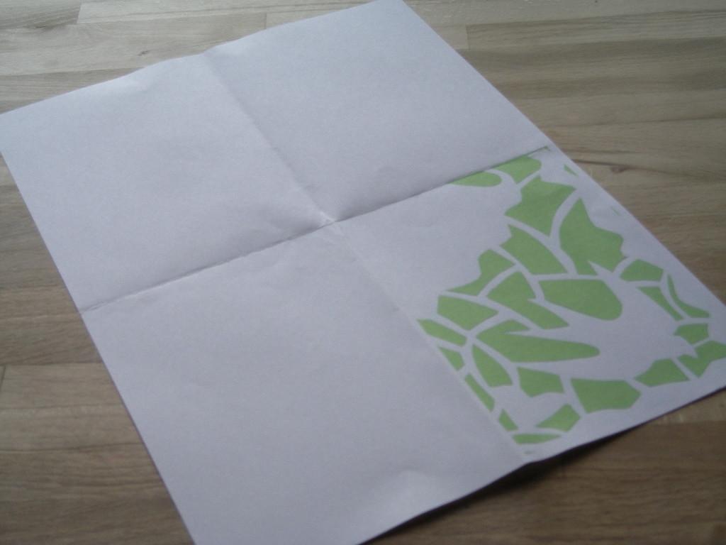 Print gækkebrevet ud, det grønne er det, der skal klippes/skæres