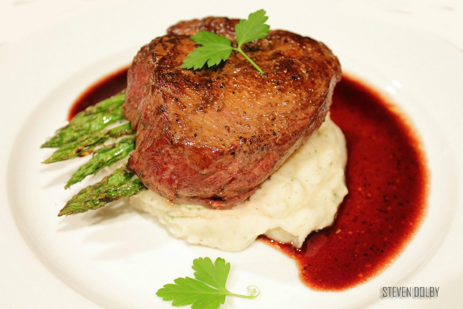 Fillet Steak with Red Wine Reduction by Steven Dolby