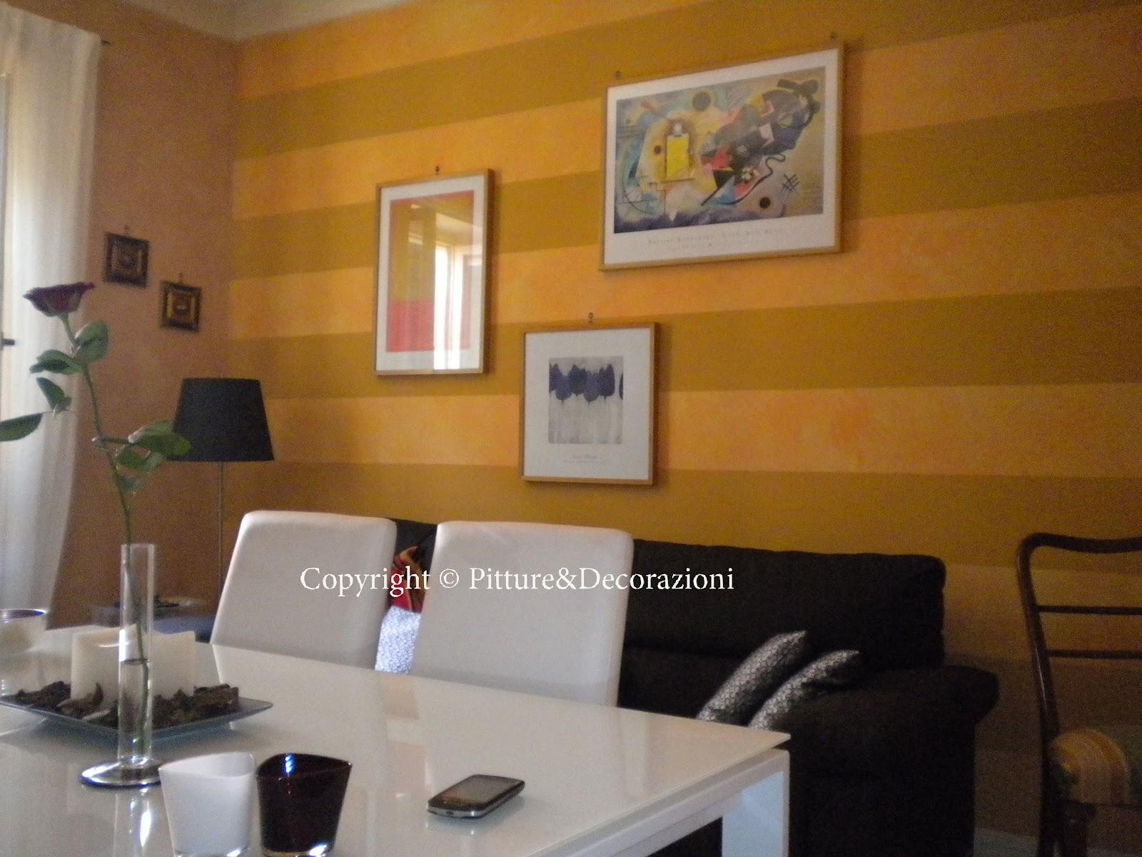 Pitture decorazioni parete salotto for Parete salotto