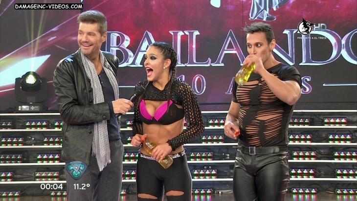 Celeste Muriega cameltoe in black leggings HD video