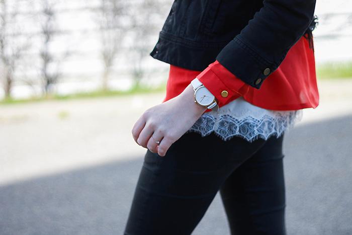 lace shirt jean