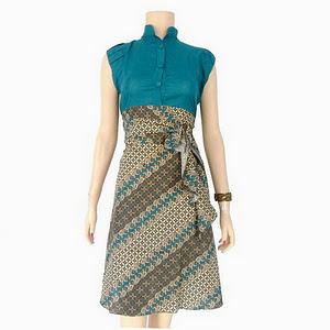 Dress Batik Solo Kawung Lintang Lavina Langsat