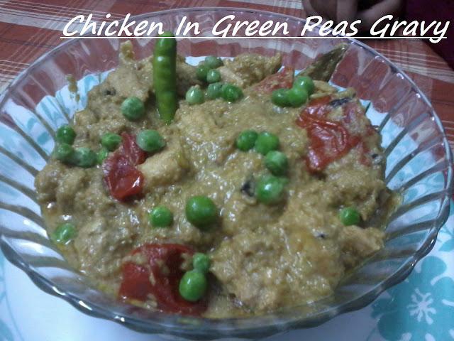 Chicken In Green Peas Gravy