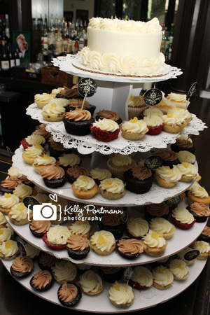 Cupcake tower, cupcake wedding, Frisco Wedding