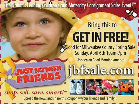 Just Between Friends coupon