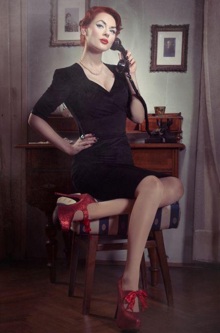 Ivana Gretel Macabre deviantart fotos modelo ruiva pin-up Sexy pin-up