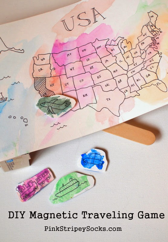 DIY Magnetic Transportation Map Game