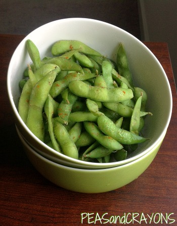 Edamame with Cayenne and Sea Salt