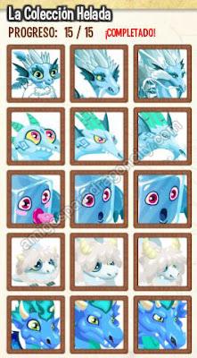 imagen de la coleccion helada de dragon city