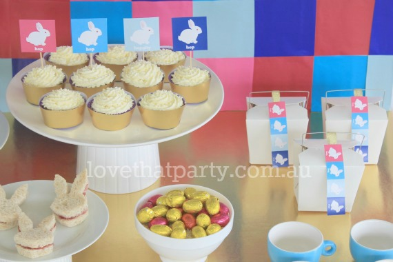 Free Printable Easter Party Cupcake Toppers/Picks and Favor/Gift Tags by Love That Party. www.lovethatparty.com.au