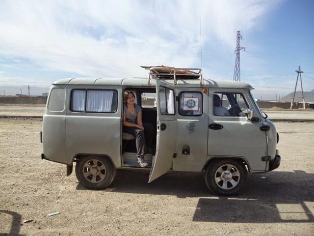 Nuestro transporte para llegar a Uliastay