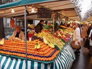 Paris outdoor food market