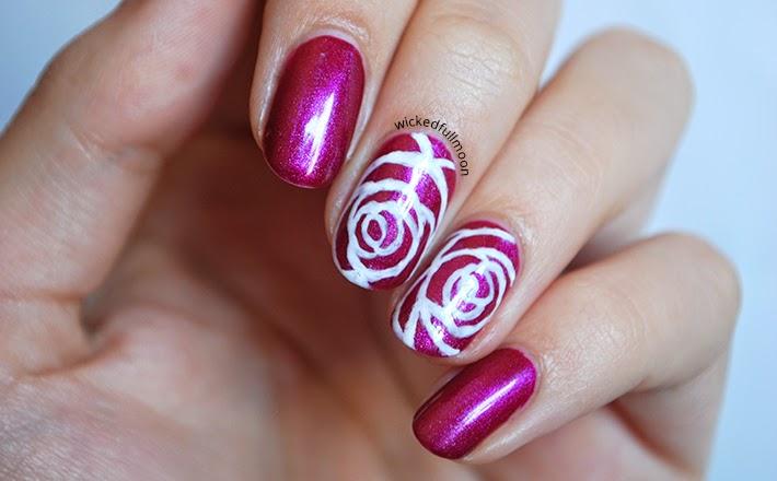 Wicked Fullmoon: | Nail Art | Rosas elegantes
