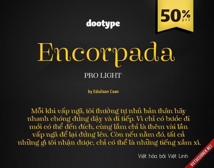[Serif] Encorpada Pro Light Việt hóa