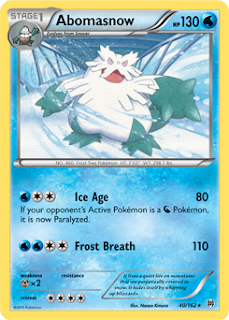 Abomasnow BREAKthrough Pokemon Card