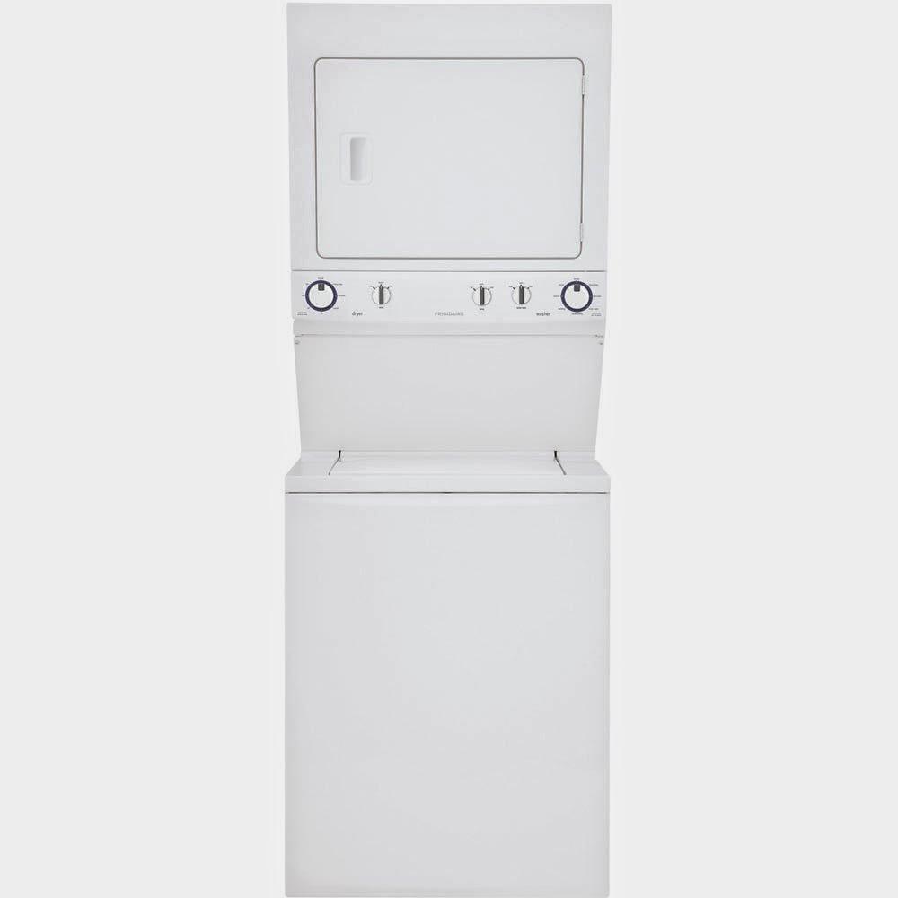 frigidaire fflg1011mw 55 cf white gas washer dryer combo