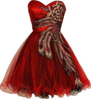 red and black prom dresses with short peacock dresses