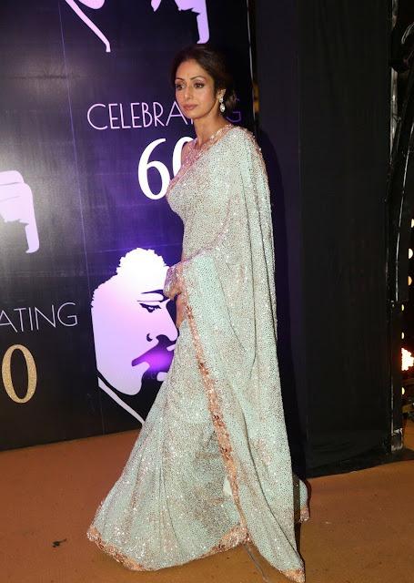 Sridevi Kapoor in Sequins Saree