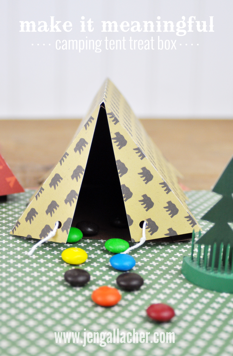 C&ing Tent Treat box by Jen Gallacher found at .jengallacher.com. & Making It Meaningful: Camping Tent Treat Boxes | Jen Gallacher
