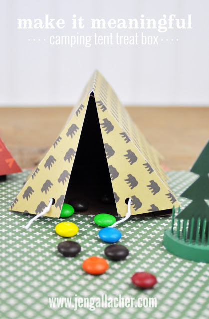 Camping Tent Treat box by Jen Gallacher found at www.jengallacher.com.