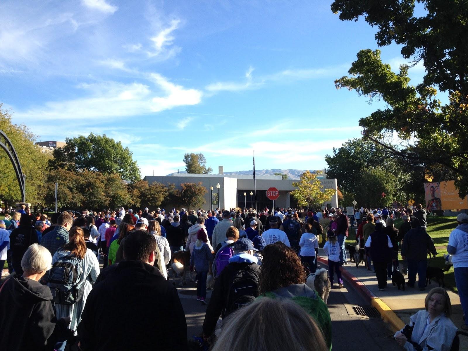 Crowd at See Spot Walk