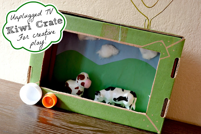 Kiwi Crate, Kiwi Crate Celebration Shop, what to do with kiwi crate boxes, what to do with subscription boxes, DIY TV craft, DIY television, safari ltd, safari ltd TOOBs, crafty ideas, 