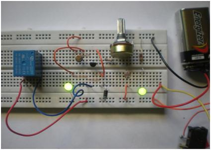 Circuito Ldr : Sensor oscuro con ldr transistor y un led paso conexión de