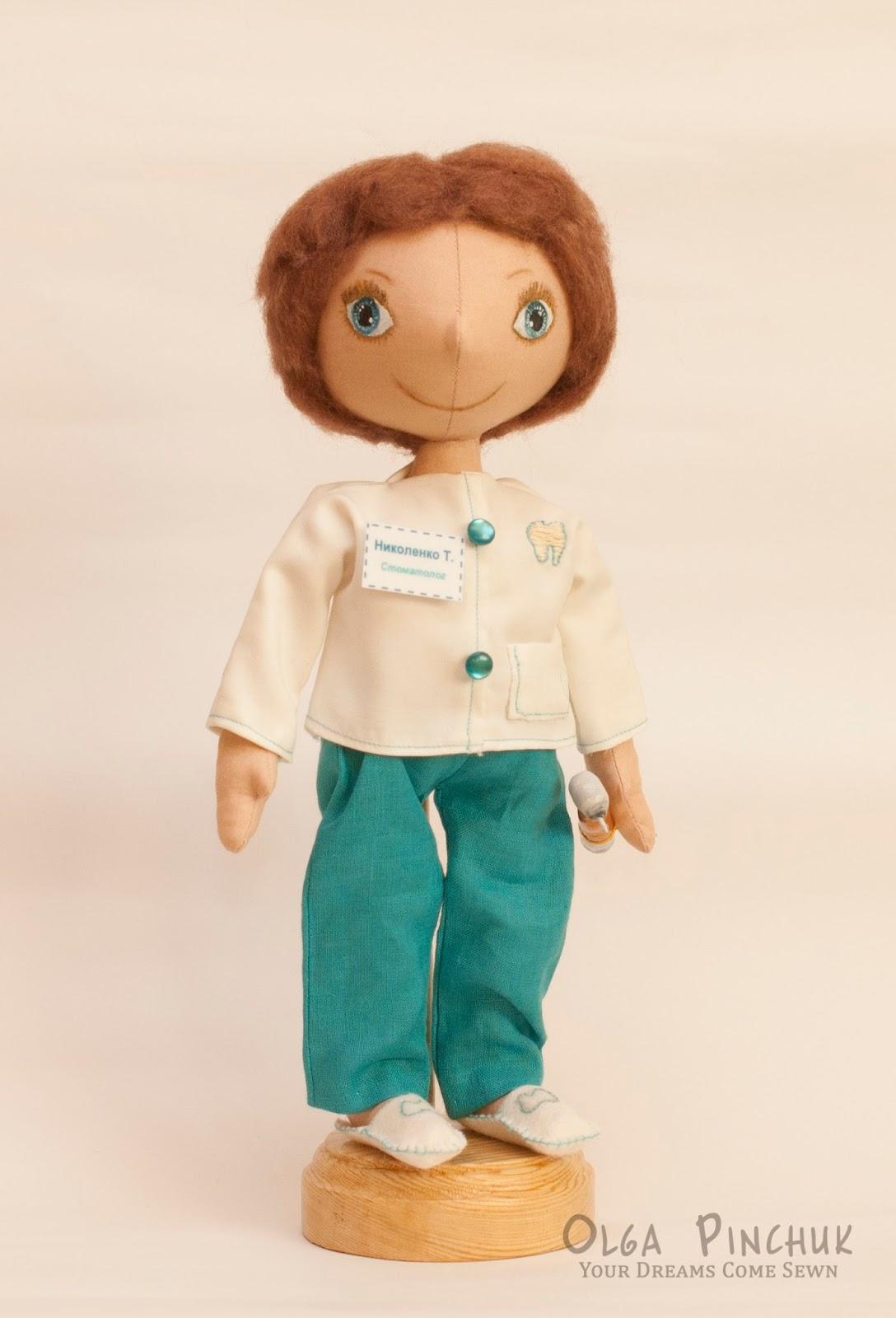 интерьерная кукла, куклы по профессиям