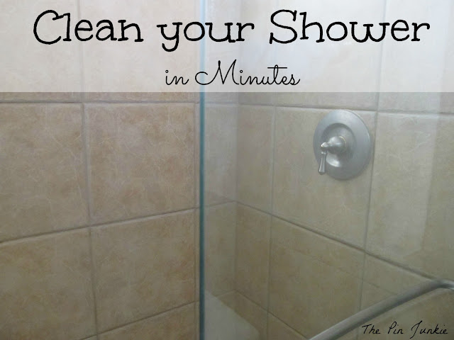 the pin junkie how to clean glass shower doors the easy way. Black Bedroom Furniture Sets. Home Design Ideas
