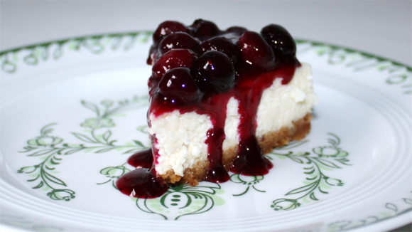 New york cheesecake blueberry topping