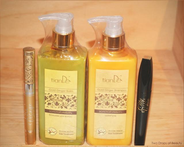 tina de, покупки февраля. тушь для ресниц, сера для ресниц, шампунь,  бальзам для волос, золотой имирь
